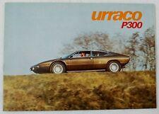 Lamborghini Urraco P300 Original Sales Brochure Bertone Gandini