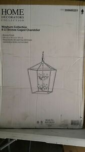 Weyburn 8-Light Bronze Caged Chandelier by Home Decorators Collection