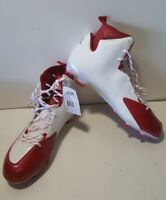NEW Adidas Crazyquick 2.0 high NCAA White/Red Football Cleats D70214 Size 14
