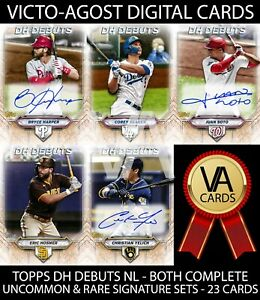 Topps Bunt DH Debuts BOTH COMPLETE UNCOMMON & RARE SETS - 23 Cards [BUNT APP]