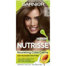 Garnier Nutrisse Nourishing Hair Color Creme, 51 Medium Ash Brown