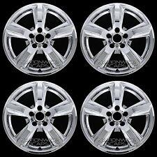 """4 CHROME 2015 16 2017 Ford Mustang V6 17"""" Wheel Skins Hub Caps Alloy Rim Covers"""