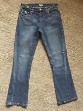 LA FLACA VINTAGE Womens Sz 44 (Sz 4 US) Distressed Low Rise Jeans Made in Italy