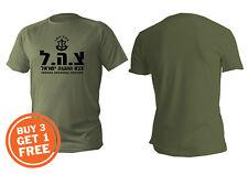 T Shirt Mens Dri Fit Short Sleeve Green Olive Israel Defense Forces Idf Zahal
