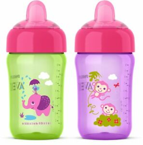 Philips Avent 2 Piece My Sip N Click Sippy Cup, 12 Ounce (SCF3555)