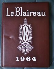 Le Blaireau Badger HS 1964 Yearbook