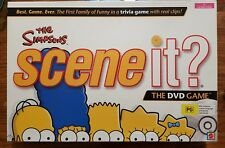 The Simpsons - Scene It? Interactive DVD Board Game (2009) Mattel COMPLETE