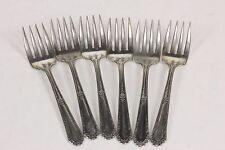 6 Monroe Silver Company Silverplate Vintage Dessert Forks Unknown Pattern