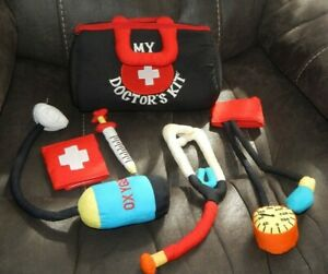 Baby / Toddler Plush Doctor's Kit Bag W/ Tools, Stethoscope,Shot,Blood Pressure