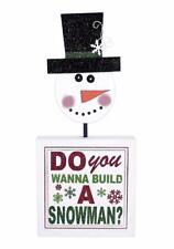 Adams & Co Christmas Wood Sign DO YOU WANNA BUILD A SNOWMAN NEW 78375