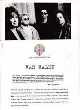 Van Halen Press Kit -Warner Bros. 1993 Folder and press release original