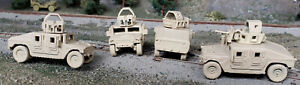 HO 1/87 scale US Army armored Humvee ver. 2 w/covered turret