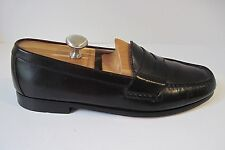 Men's Cole Haan Dark Burgundy Leather Penny Loafer Shoes Size 11 1/2D