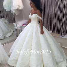 New White/Ivory Wedding Dress Bridal Gown Lace Elegant Custom Size 6 8 10 12 14+