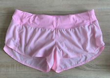 Lululemon Pink Speed Up Shorts US 10 UK 12-14 EUC Run Gym Workout