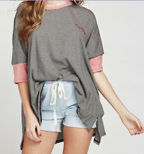 Wildfox Couture Overslept Embroidery Sunny Morning Tee Size S