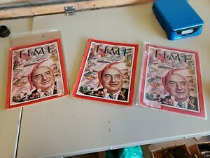 DECEMBER 12 1955 TIME MAGAZINE TOYMAKER LOUIS MARX Lot of 3