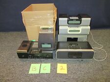 6 IHOME IPHONE 4 DOCKING STATION MUSIC HOME CLOCK AUDIO PLAYER STEREO USED