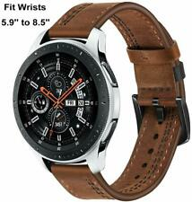 Samsung Galaxy Watch Band 46mm Genuine Leather Casual Replacement Bracelet Brown