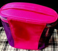 Clinique Cosméticos/maquillaje bolso ~ Rosa/Púrpura Forma Ovalada ~ nuevo ~ Rápido P&P!