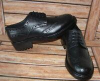 New Mens Church Walk Black Triple Welt Leather Brogue Goodyear Shoes Size 11