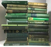 Lot of 5 Green Antique - Vintage - Current Books Decorator Set *MIXED LOT*