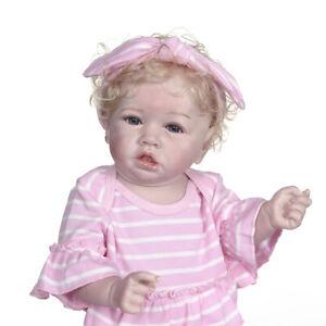 22 inch Full Silicone Reborn Baby Doll Simulation Newborn Reborn Doll Girls Toys