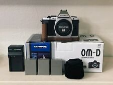 Olympus OM-D E-M5 16.1 MP Digital Camera Silver (Body Only) - with EXTRAS