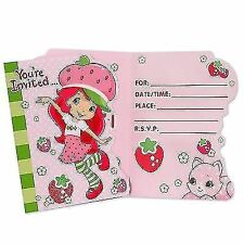 Strawberry Shortcake Invitations 8ct - Item