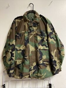 US Army Military BDU Field Jacket M-65 Coat Woodland Camouflage Small Short NWOT