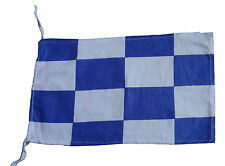 "N - Naval Signal Flag - 100% Cotton – Marine Code - 8"" X 13"" - Nautical / Boat"