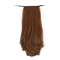 Womens Clip In Ponytail Tail Hair Long Wigs Wrap On Curly Hair Wig