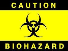 Caution - Bio Hazard, Diecut vinyl adhesive sticker decal  130x100mm