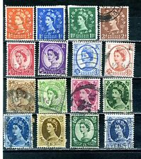 GB sixteen wilding ½d to 1/6 used