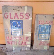NOS 1959 1960 Chevy Sport VENT WINDOW GLASS Pair GM # 4751584