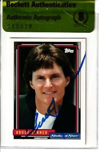 Bruce Jenner autographed signed autograph 1992 Topps Stadium of Stars card (BAS)