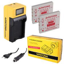 2x Batteria Patona + caricabatteria Synchron LCD USB per Fuji FinePix V10 Zoom