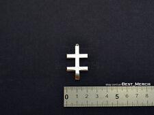 Marilyn Manson Necklace stainless steel Double Cross Pendant merch logo symbol