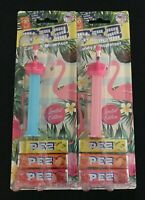 PEZ Flamingos on Blue and Pink Stems Limited Edition on American Cards Retired