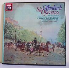 """6 x 33T OFFENBACH Coffret Disques LP 12"""" SIX OPERETTES - EMI VOIX MAITRE 52720/5"""