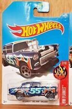 Hot Wheels 2017 HW FLAMES 2/10 '55 CHEVY BEL AIR GASSER (US CARD) (A+/A)