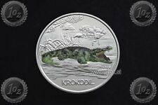 AUSTRIA / ÖSTERREICH 3 EURO 2017 (CROCODILE - Tierthaler) Commemor. COLORED Coin
