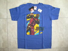 NWT Vintage NIKE Air Michael Jordan Bulls White Label Blue Shirt Y-XL 14-16 / XS