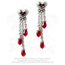 Pendientes de bisutería pendientes largos color principal rojo cristal