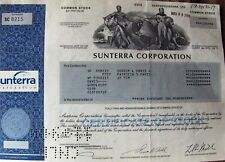 Stock certificate Sunterra Corporation State of Maryland