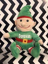 "10"" Plush Personalized Elf"