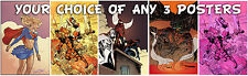 "YOUR CHOICE OF 3 11"" X 17"" Signed POSTERS Prints by LEE OAKS! comic art Deadpool"