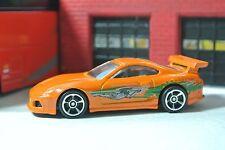 Hot Wheels Fast and Furious Toyota Supra - Orange - Loose - 1:64