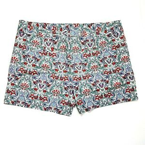 LOFT by Ann Taylor Womens Floral Shorts Size 10 Flat Front Faux Pockets