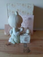 Precious Moments Figurine C-0009 Always Room For One More Girl W Box Tags Bow